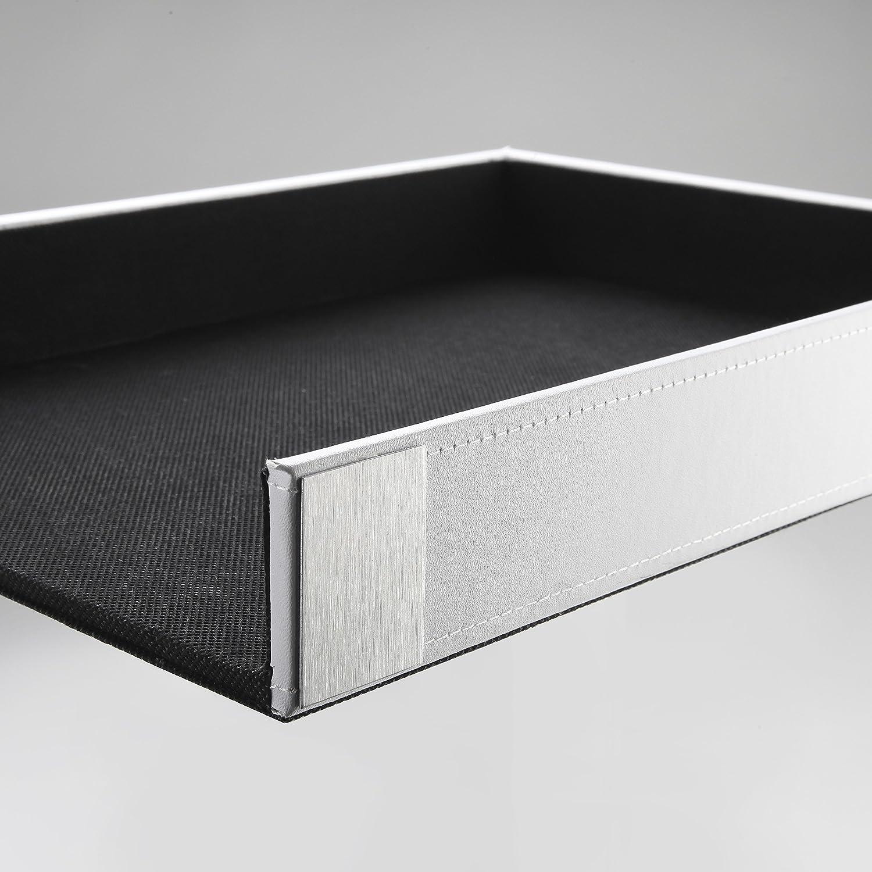 Artistic Architect Line Letter Tray 8.5-Inchx11-Inch, Black/Silver Metal (ART43002)