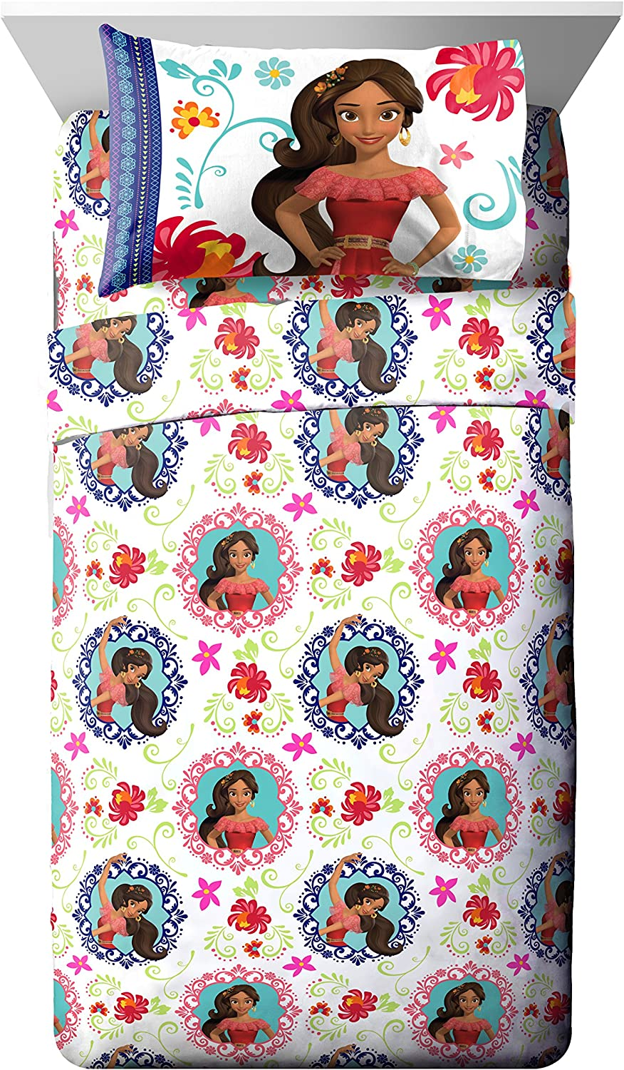 Disney Elena of Avalor Dancing Script 4 Piece Full Sheet Set