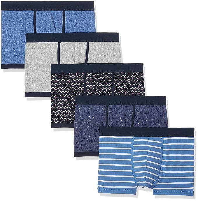 Springfield 5 Pack, Boxer para Hombre, Azul (Blue), Large (Tamaño