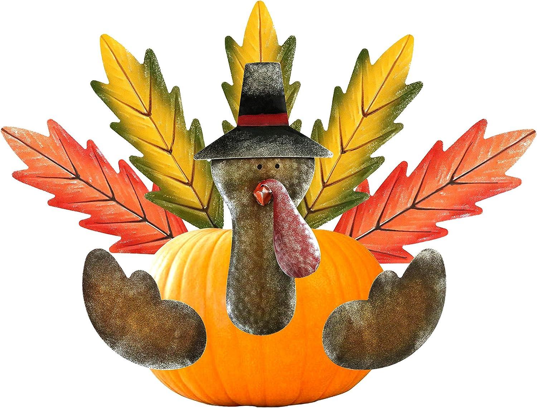 Kurala Pumpkin Turkey Making Kit, Carve-Free Pumpkin Stake, Thanksgiving Decoration
