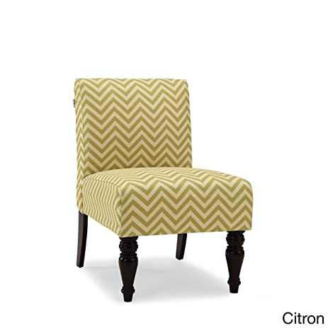 Delicieux Dwell Home Inc Hampton Ziggy Chevron Print Accent Chair Yellow