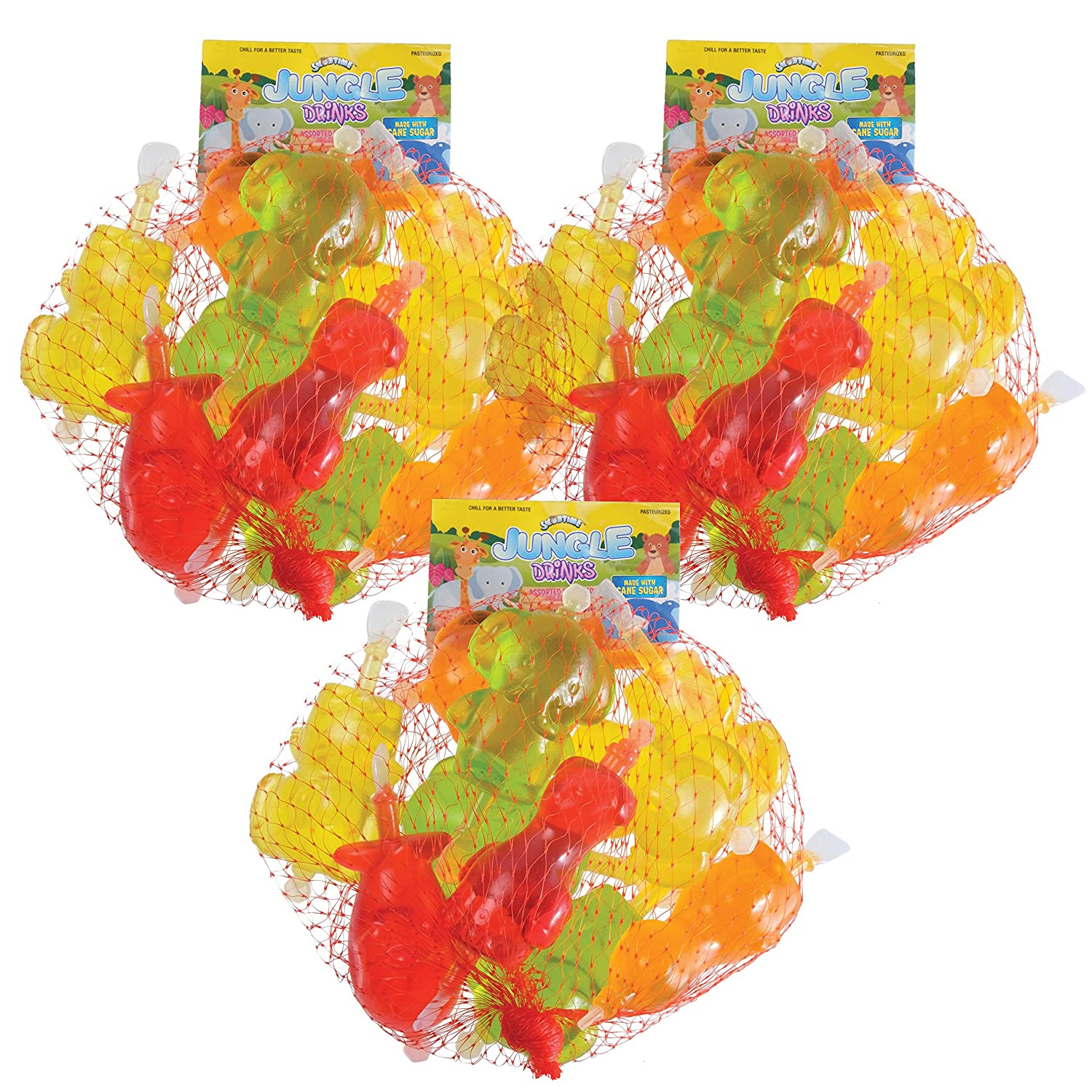 Jungle Drink Animal Pops by Snowtime   Assorted Fruit Flavored Juice   10 Frozen Treats, 3-Pack
