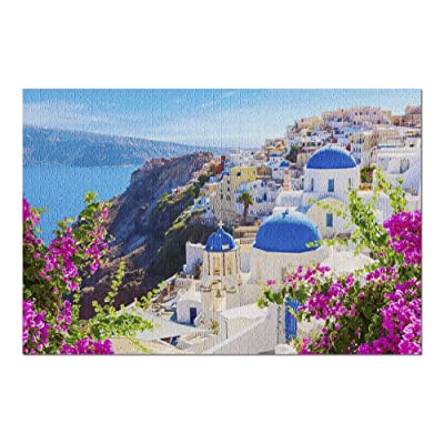 Santorini Island, Greece - Beautiful Seaside View 9027939 (Premium 1000 Piece Jigsaw Puzzle for Adults, 20x30, Made in USA!): Toys & Games