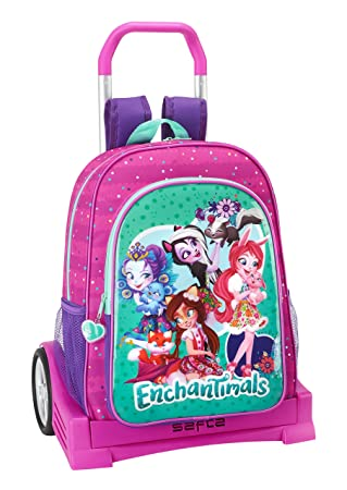 Safta Mochila Espalda Ergonómica Enchantimals Con Carro Safta Evolution: Amazon.es: Equipaje