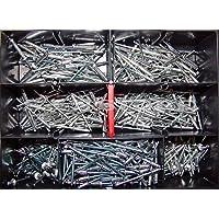 Blindnieten-Sortiment Ø 3,2mm verschiedene Längen 370 Teile Alu/ Stahl Din 7337 Popnieten …