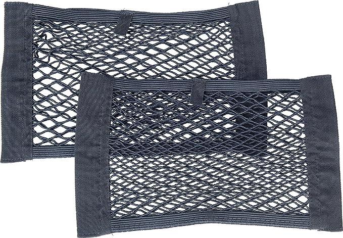 Elastisch Nylon Kofferraumnetz Netztasche mit 4 Klettverschluss Gep/äcknetz Auto R/ücksitz Organizer Schutznetz Aufbewahrung Ablage 100 x 40 cm und 31 x 27cm Inntek 2 St/ück Auto Gep/äcknetz