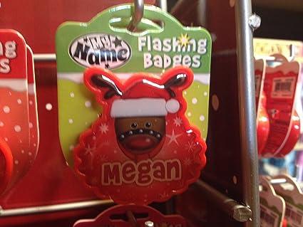 Amazon.com  John Hinde Megan My Name Flashing Badge  Toys   Games 6ba1df9d4c26
