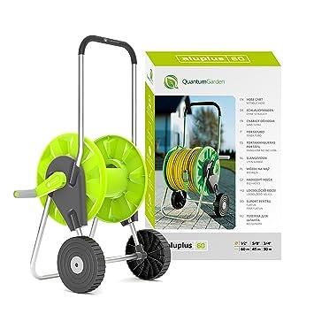 Quantum Garden 60 m portátil para manguera Rell Troley enrollador de carrito de tubo de riego de jardín de pie: Amazon.es: Jardín