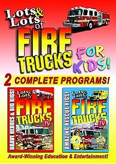 Lots & Lots of Fire Trucks for Kids DVD - 2 Program Set