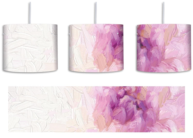 Encantadora lámpara de techo con diseño de flores lilas y ...