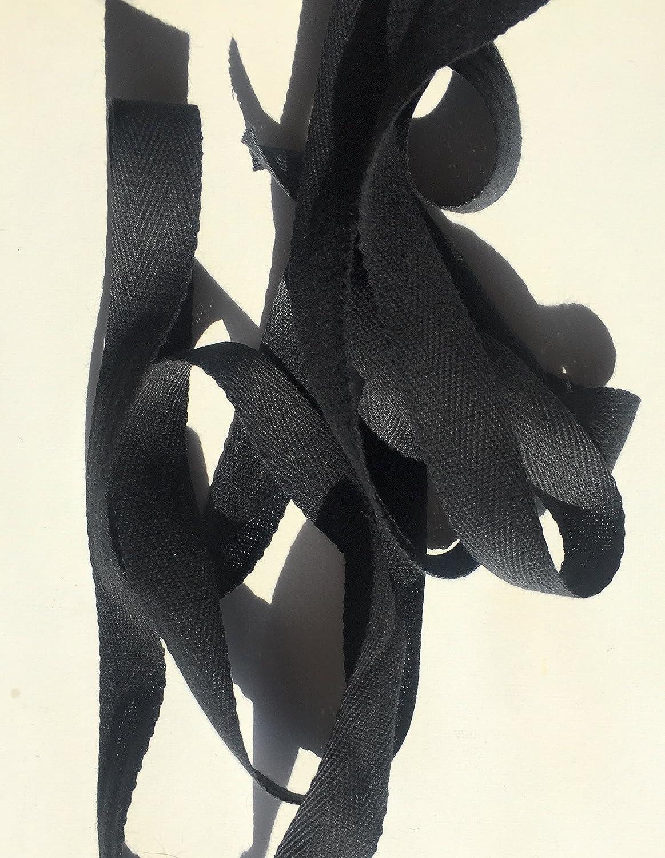 Black Twill Tape 5//8  Ribbon Trim 10 Yds