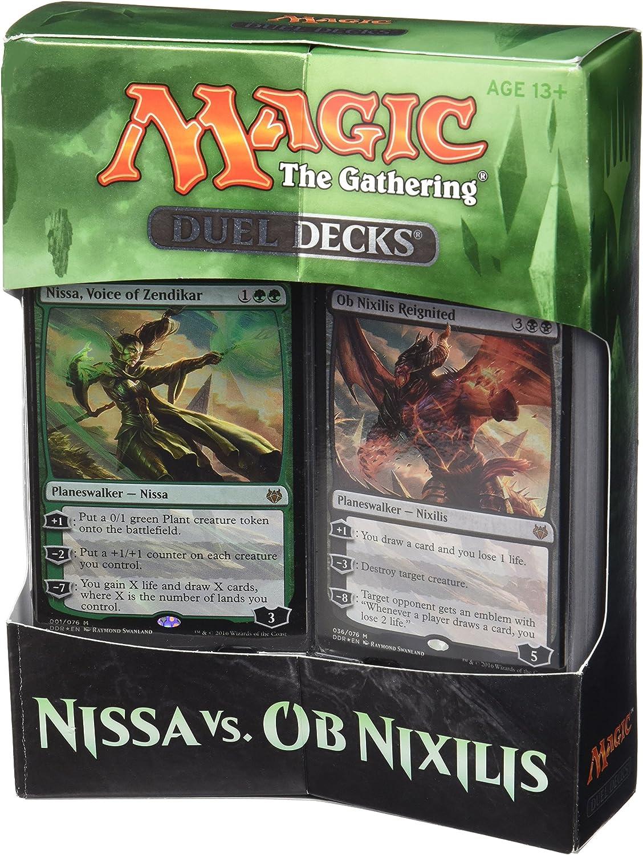 Magic The Gathering 14443- Juego de Duelo de Cartas de Nissa vs. OB Nixilis