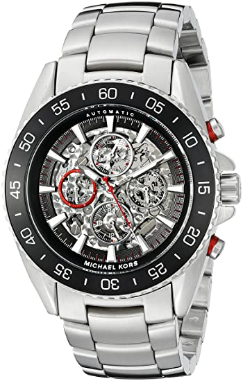28db24d585bb Image Unavailable. Image not available for. Color  Michael Kors Men s Jet  Master Silver-Tone Watch MK9011