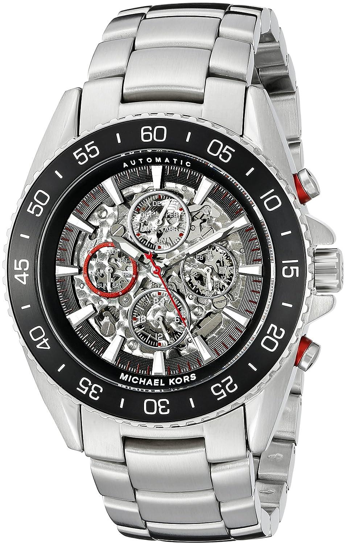 amazon com michael kors men s jet master silver tone watch mk9011 amazon com michael kors men s jet master silver tone watch mk9011 michael kors watches