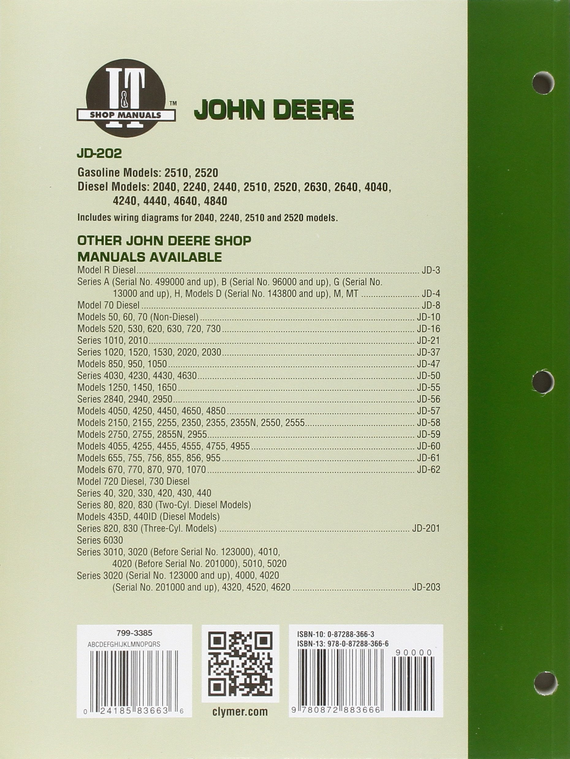 John Deere 2440 Wiring Diagram Modern Design Of 2510 Harness Shop Manual Jd 202 Models 2520 2040 2240 Rh Amazon Com 20 Series