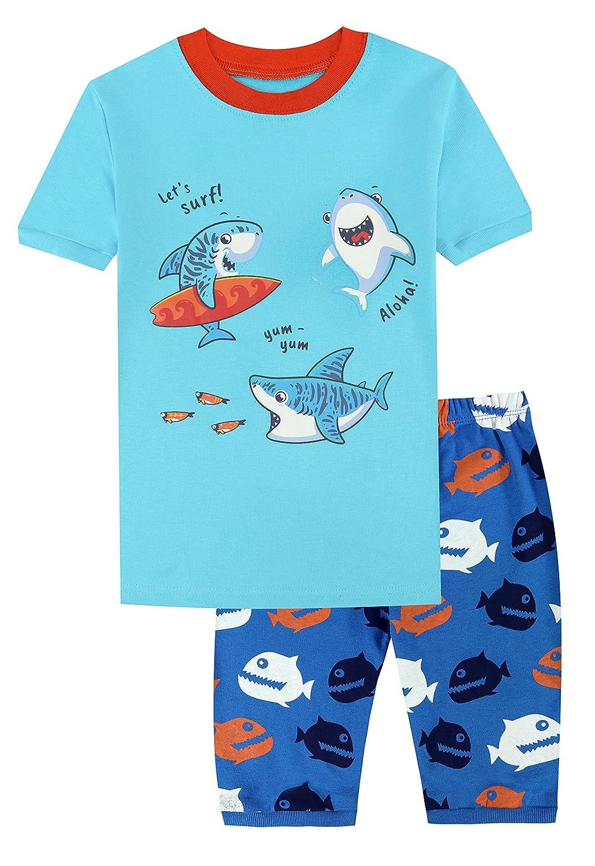 Little Big Boys Pajamas Christmas Car Cotton Gift 2 Piece Children PJS Long Sleeve Set Kids Sleepwear