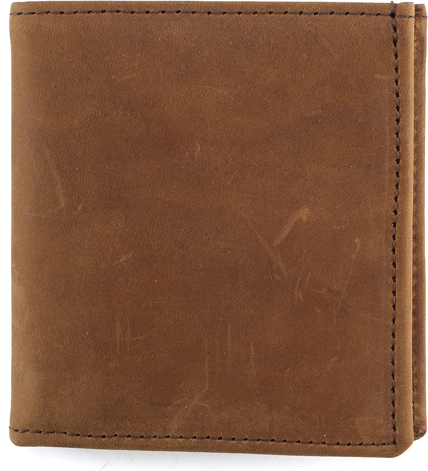 Mens Top Grain Leather Hipster Wallet