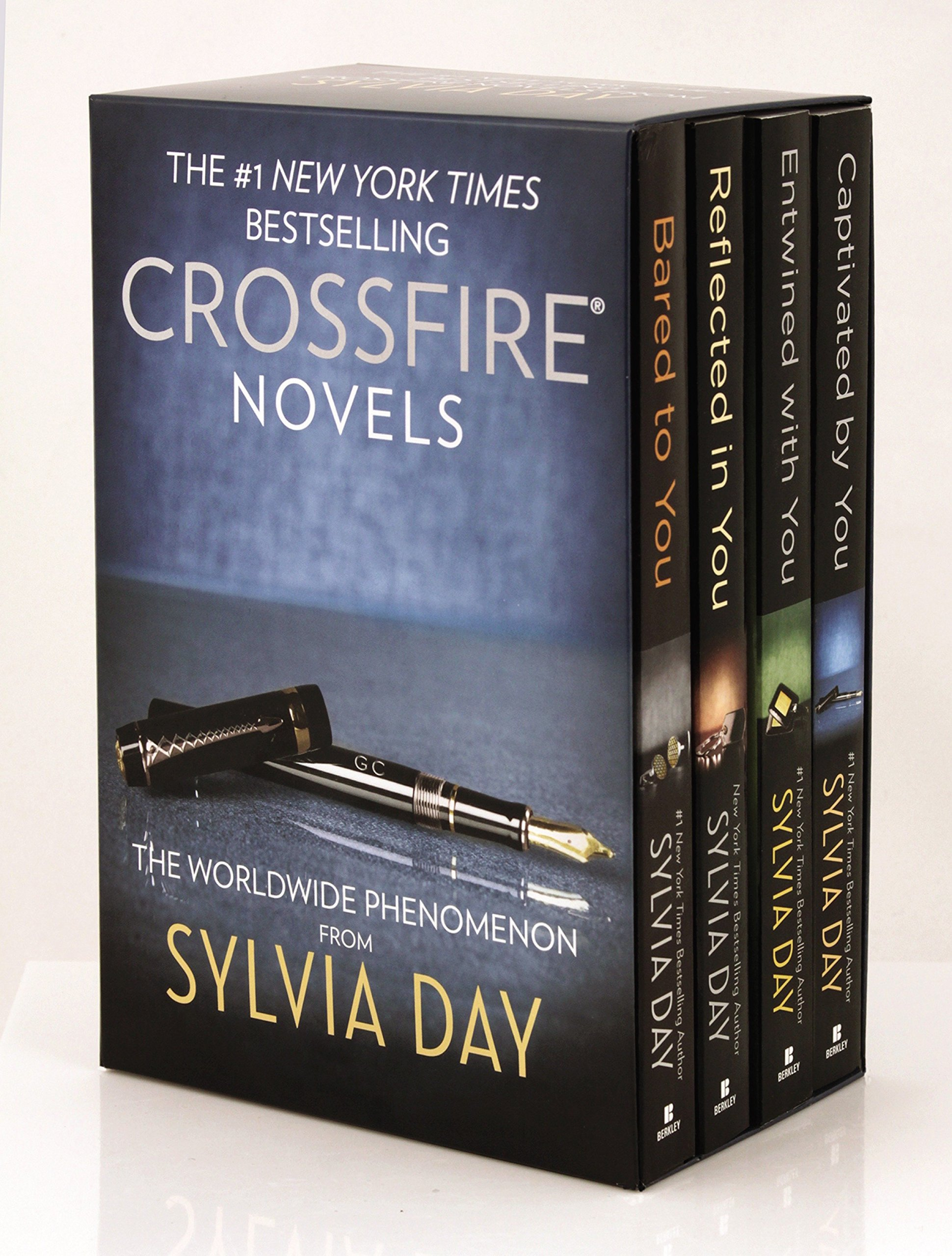 Sylvia Day Crossfire Series 4-Volume Boxed Set: Bared to You/Reflected in You/Entwined with You/Captivated By You by Day Sylvia