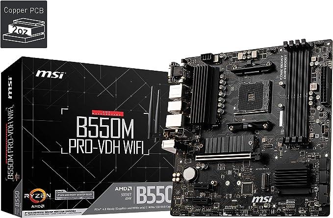 Msi B550m Pro Vdh Wifi Amd Am4 Ddr4 M 2 Usb 3 2 Gen 1 Computers Accessories