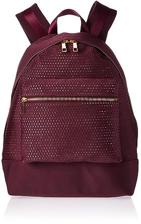 The Fix Riley Perforated Neoprene Backpack Fashion Backpack, Burgundy 564675e870