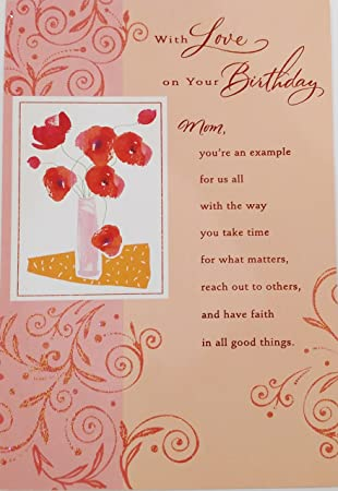 With Love On Your Birthday Mom Religious Greeting