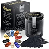 FIREDOTS Carbon Black Mica Powder, Massive 100 Gram Pot of True Cosmetic Grade Black Mica with Pearlescent Effect, 100…