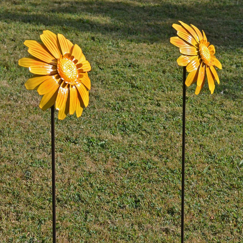 Fiesta Studios Lot de 2 piquets de Fleurs Jaunes pour d/écoration ext/érieure