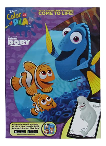 Disney Pixar Finding Dory Color And Play Coloring Book