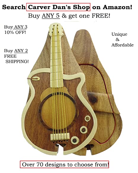 Amazon.com: Música Púa De Guitarra Soporte hand-carved ...