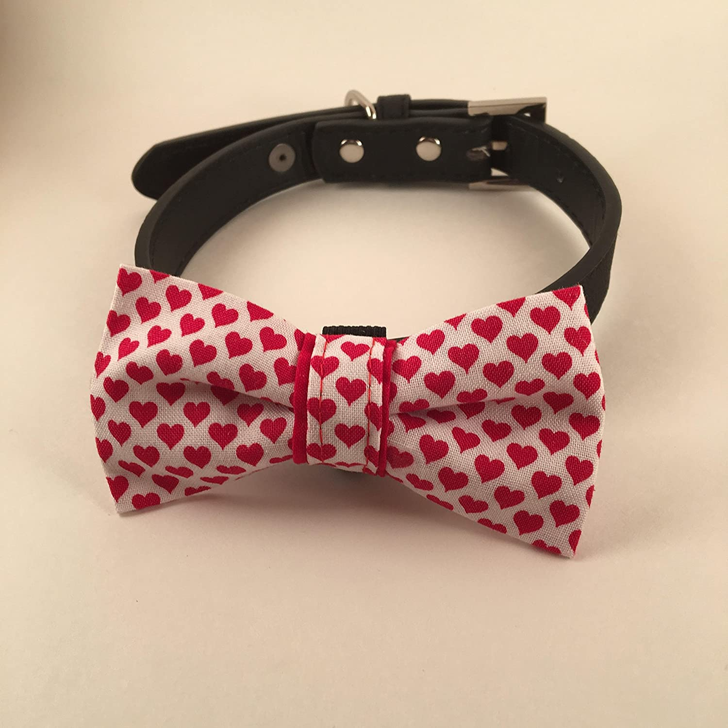 Valentine-Small Hearts-Pet Bow Tie