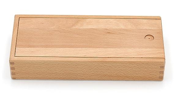 Paintersisters lápices Caja con Tapa Deslizante - Caja de Madera, Caja de Madera de Madera Fein Haya barnizada: Amazon.es: Juguetes y juegos