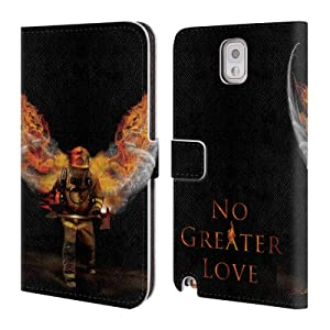 Official Jason Bullard No Greater Love Fireman Firefighter Leather Book Wallet Case Cover For Samsung Galaxy Note 3