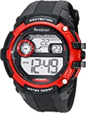 Armitron Sport Men's 40/8337RED Red Accented Digital Chronograph Black Resin Strap Watch