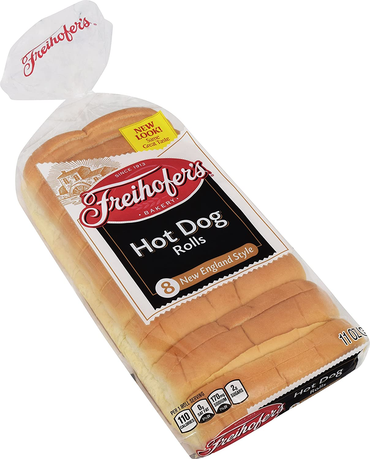 Freihofer, New England Hot Dog Rolls, 8 Ct, 11 Oz: Amazon.com: Grocery U0026  Gourmet Food