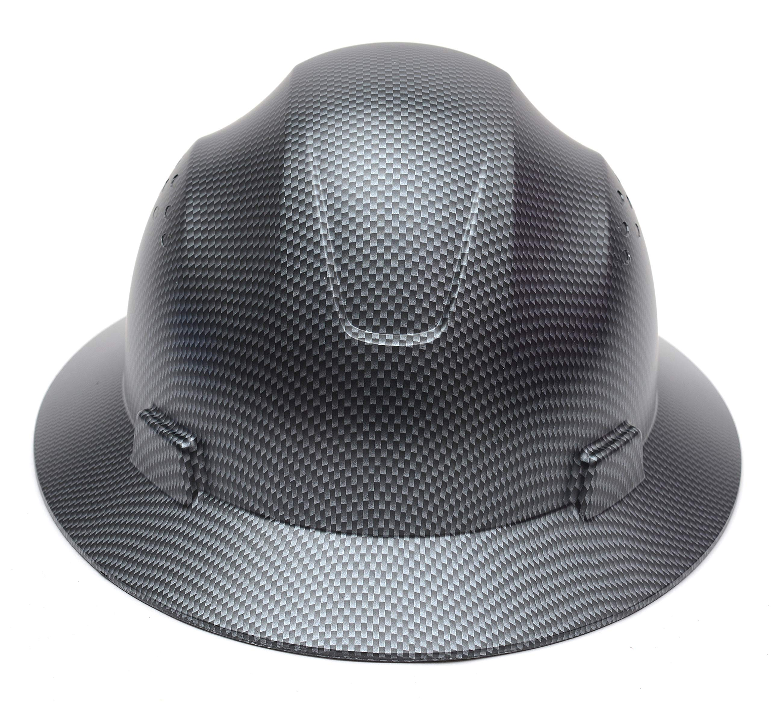 CJ Safety Full Brim Fiber Glass Hard Hat with Fas-Trac Suspension (Black)