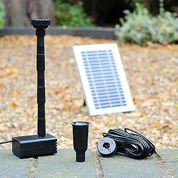 Solaire pour étang Pompe de fontaine avec batterie de secours - 5 ...