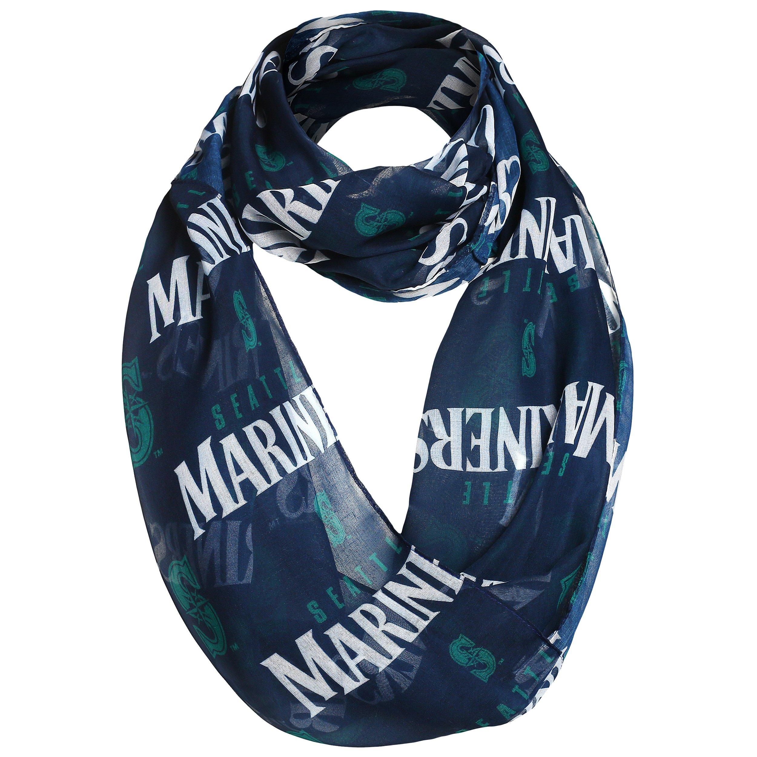 Seattle Mariners 2016 Team Logo Infinity Scarf