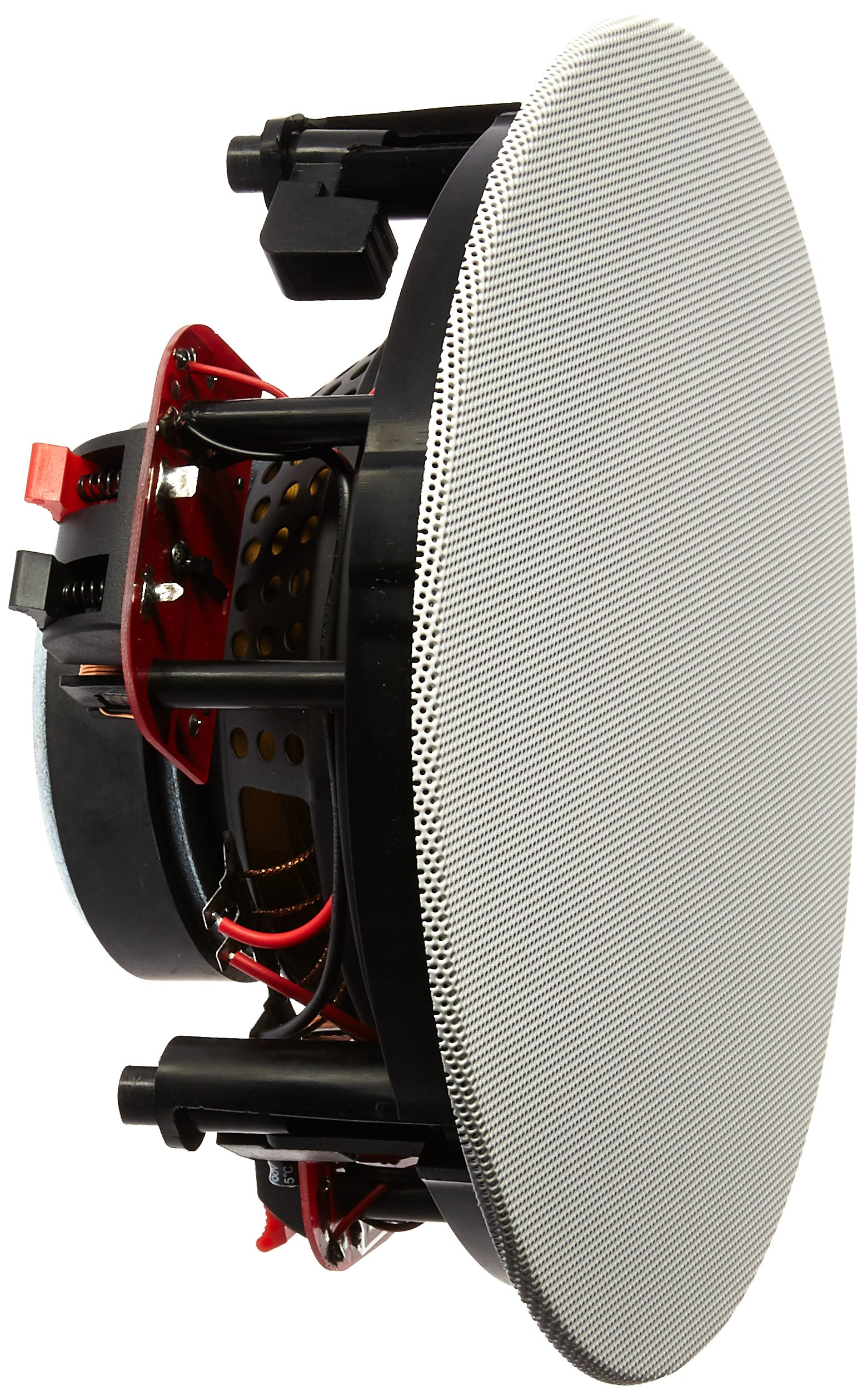 Russound RSF-610T Single Point Stereo In-Ceiling/In-Wall Speaker with 6.5-Inch Dual Voice Coil Woofer (Black)