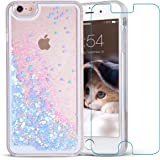 iPhone 6/6s Case, Maxdara iPhone 6/6s Hard Case Flowing Liquid Floating Luxury Bling Glitter Sparkle 4.7 inch Case Cover Fashion Creative Design iPhone 6/6s 4.7 inch Case (Blue)