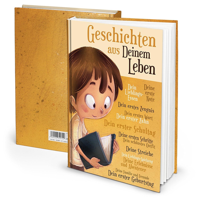 Logbuch-Verlag Journal intime pour enfants avec inscription en anglais « JUNGEN » – Les histoires de votre vie – Format A4 vierges
