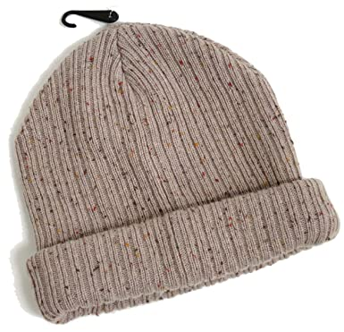 9b5d9eb1395 Topman Mens Stone Fleck Neppy Mini Beanie Oatmeal Thick Ribbed Hat One Size  Grey  Amazon.co.uk  Clothing