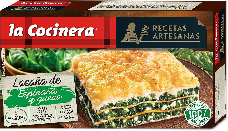 La Cocinera - Lasaña Espinacas Y Queso, 530 g: Amazon.es: Alimentación y bebidas