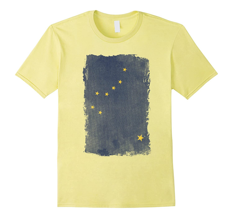 Big Texas Weathered Flag of Alaska T-Shirt