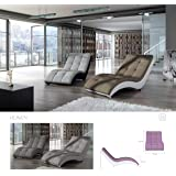 """BMF """"HEAVEN - Chaise Longue - Faux Leather or Fabric - CHOOSE ANY COLOUR - GOOD PRICE !!!"""