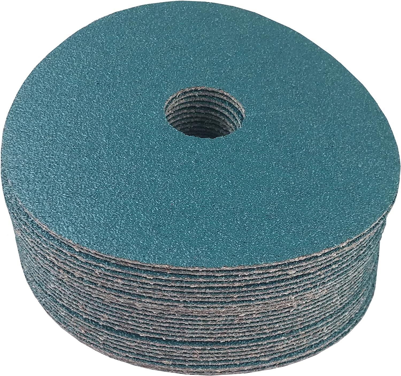 """7/"""" RESIN FIBER SANDING DISC Zirconia 36 Grit Discs 100 Pack"""