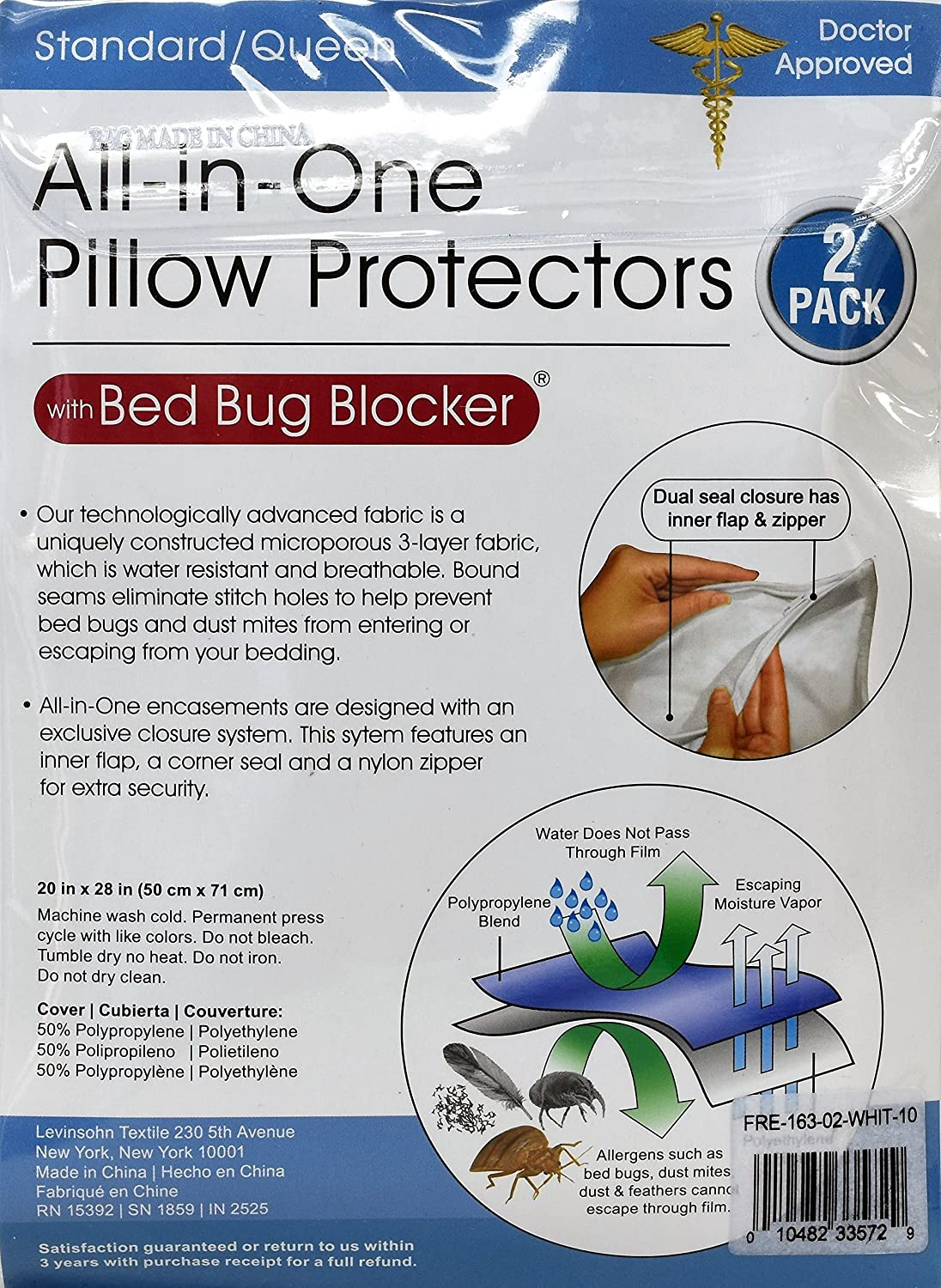 amazon com pillow saver all in one pillow protectors with bed bug