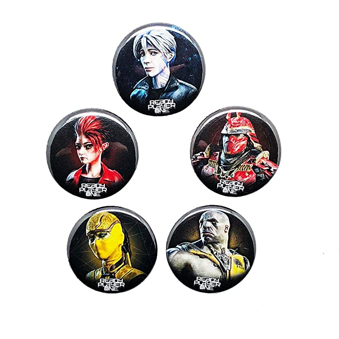 Amazon Ready Player One Set Of 5 Headshot Buttons Parzival