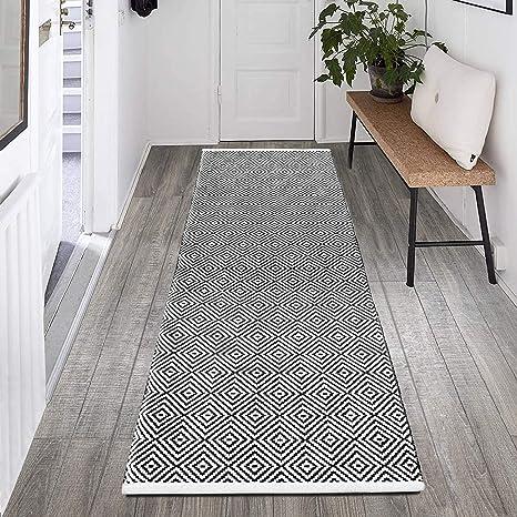Cotton Table Runner Hallway Decorative Floor Runner Carpet Yoga Mat Home Decor Floor Rag Rug Runner Handmade Handwoven Braided Rug Runner