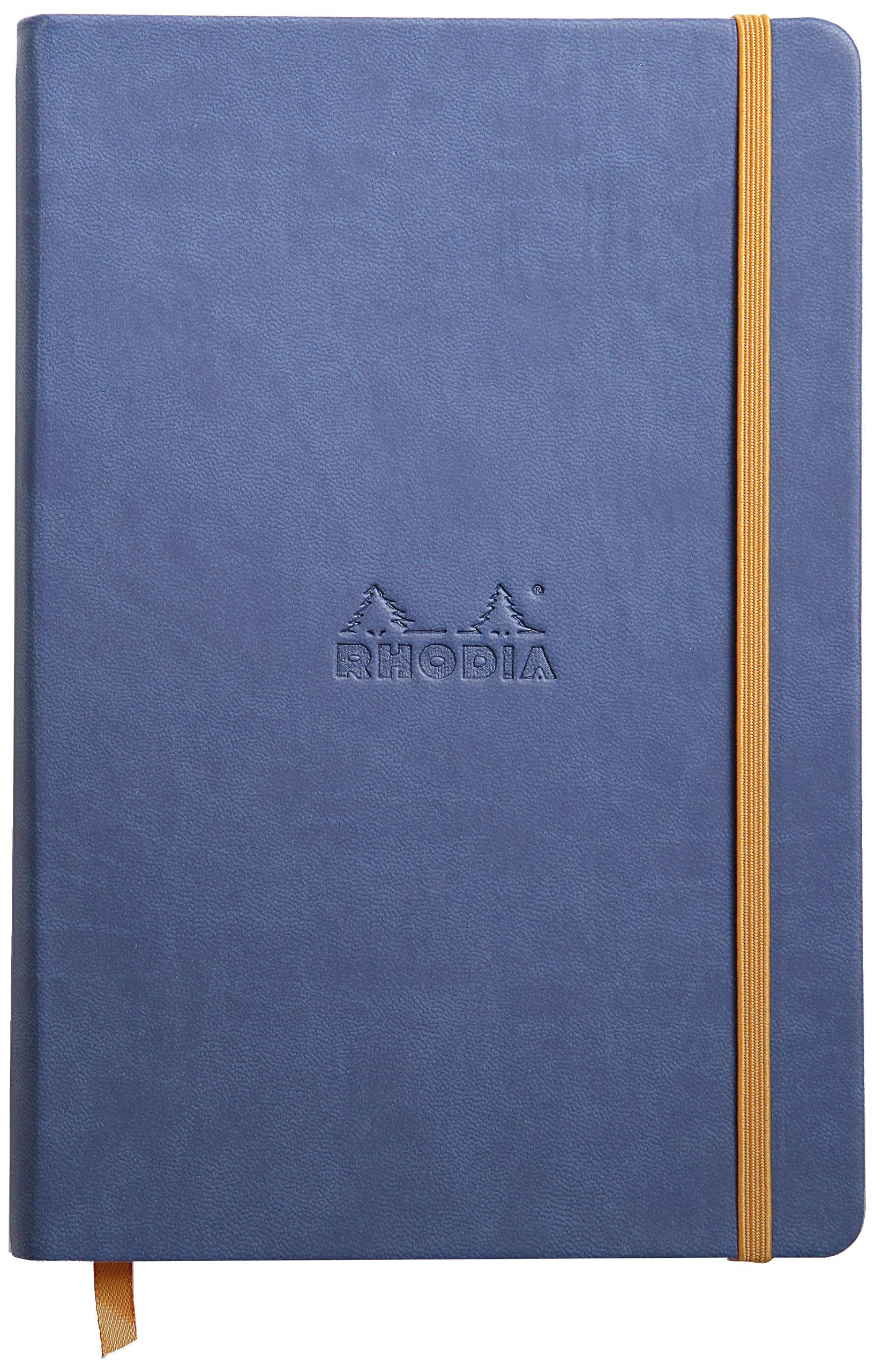 Rhodia Rhodiarama A5 Webnotebook, 5.5 in x 8.25, Lined - Sapphire (118748)