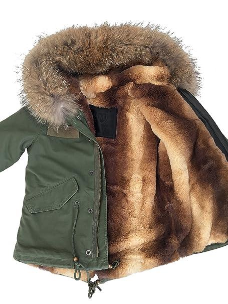 new concept bdcff 99505 Fashion - Giacca - Parka - ragazza Grün-Natur 7 anni: Amazon ...